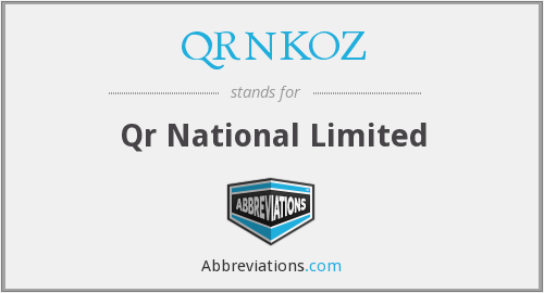 What does QRNKOZ stand for?