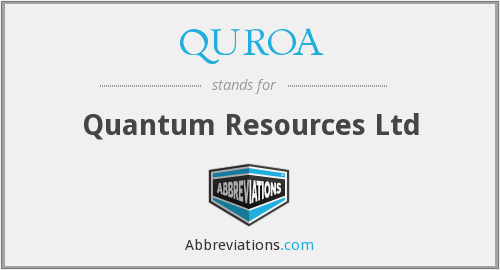 What does QUROA stand for?