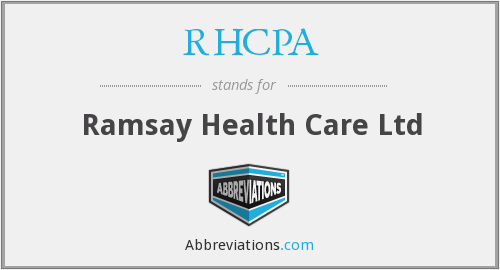 What does RHCPA stand for?
