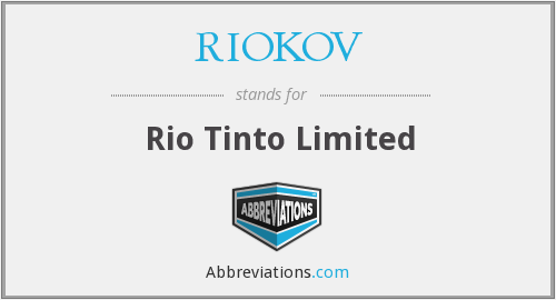 What does RIOKOV stand for?