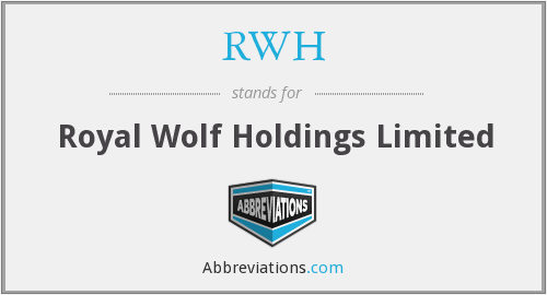 What does RWH stand for?