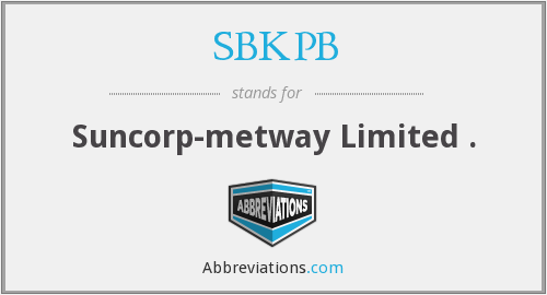 What does SBKPB stand for?