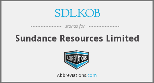 What does SDLKOB stand for?