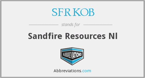 What does SFRKOB stand for?