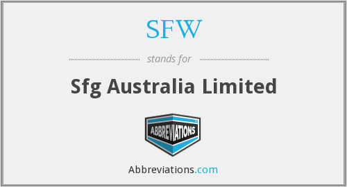 What does SFW stand for?