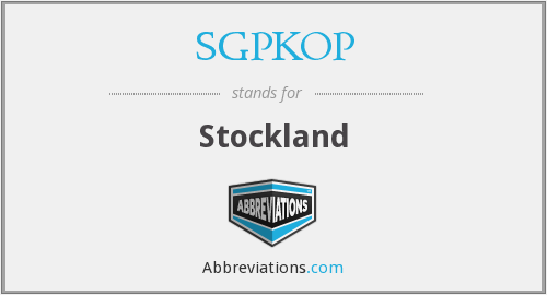 What does SGPKOP stand for?