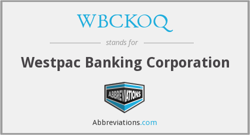 What does WBCKOQ stand for?