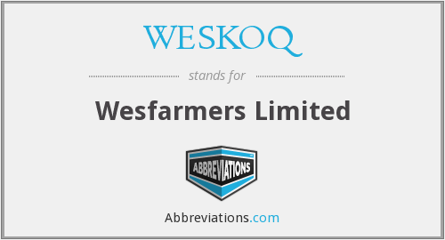 What does WESKOQ stand for?