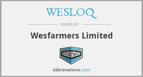 What does WESLOQ stand for?