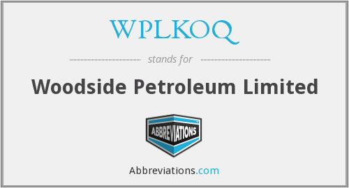 What does WPLKOQ stand for?