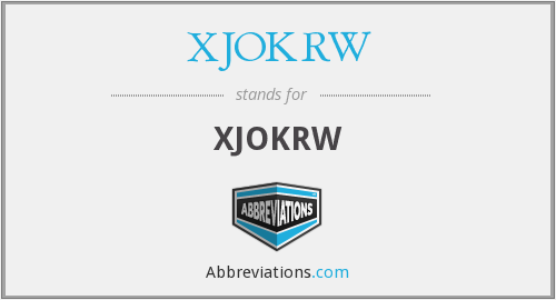 What does XJOKRW stand for?