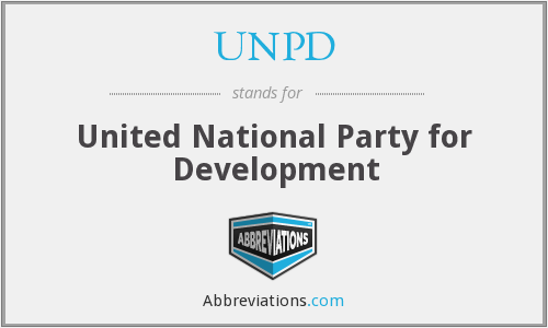 What does UNPD stand for?