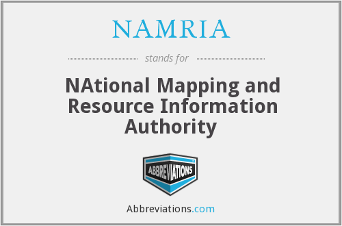What does NAMRIA stand for?