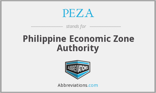 What does PEZA stand for?