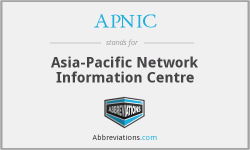 What does APNIC stand for?