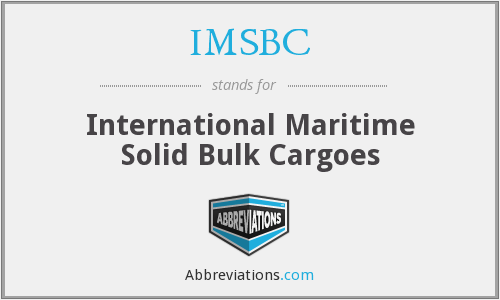 What does IMSBC stand for?