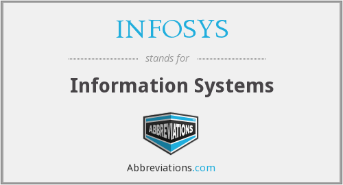 What does INFOSYS stand for?