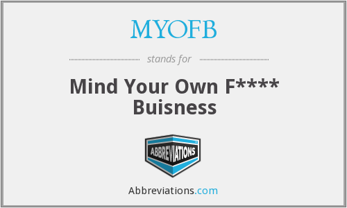 What does MYOFB stand for?