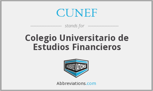 What does CUNEF stand for?