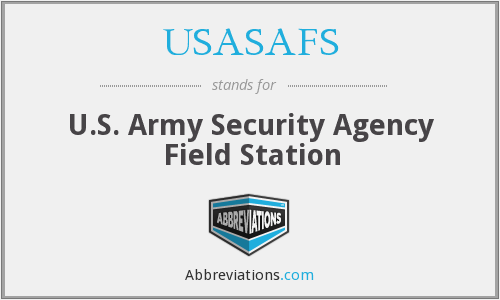 What does USASAFS stand for?