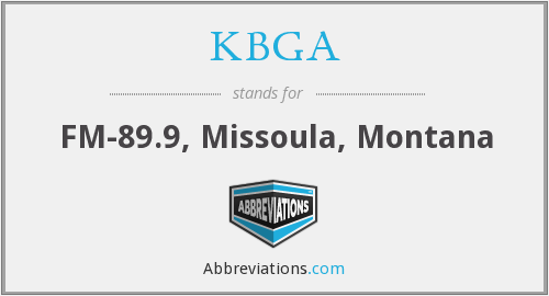 What does KBGA stand for?