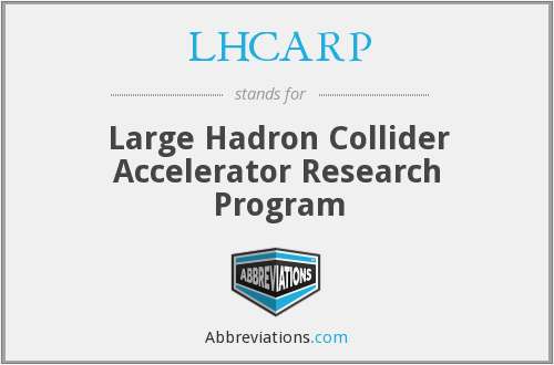 What does LHCARP stand for?