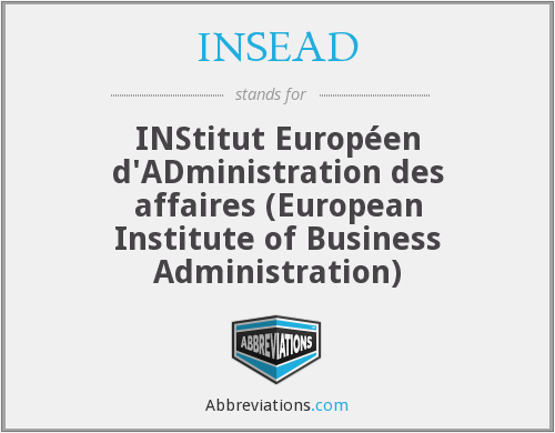 What does INSEAD stand for?