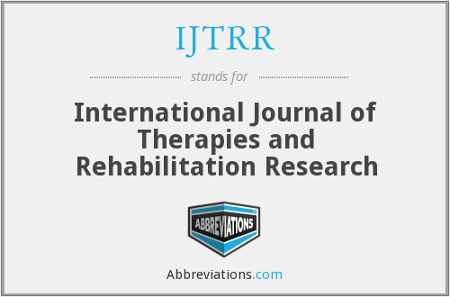 What does IJTRR stand for?