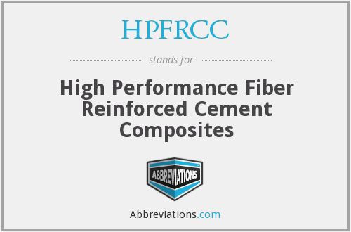 What does HPFRCC stand for?