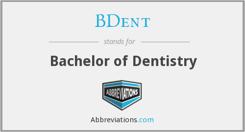 What does BDENT stand for?