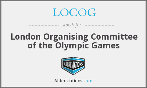 What does LOCOG stand for?