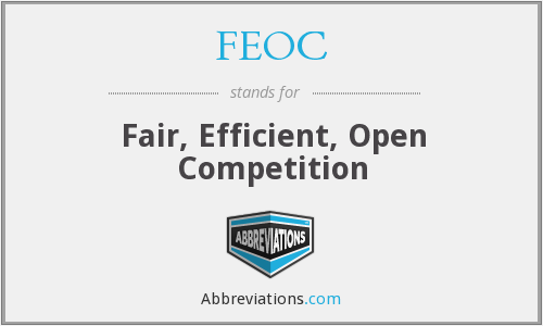 What does FEOC stand for?