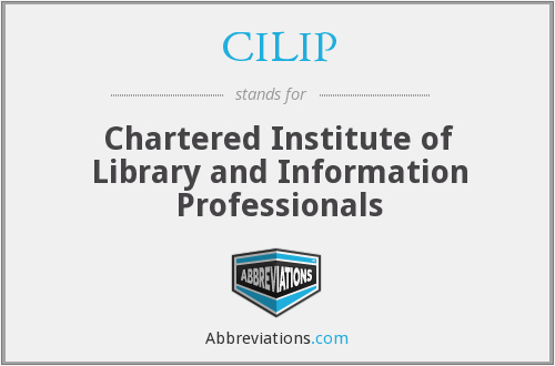 What does CILIP stand for?