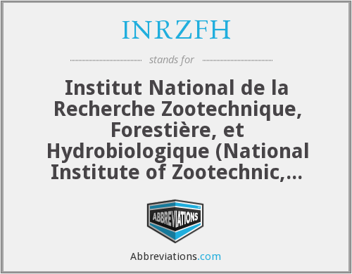 What does INRZFH stand for?