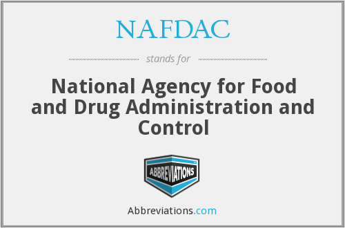 What does NAFDAC stand for?