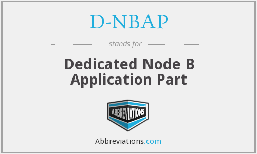 What does D-NBAP stand for?