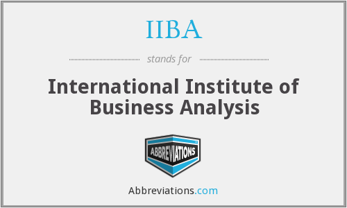 What does IIBA stand for?
