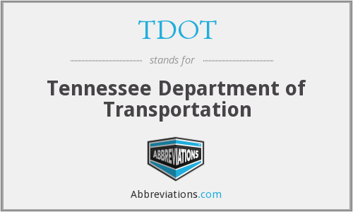 What does TDOT stand for?