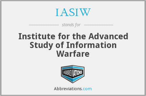 What does IASIW stand for?