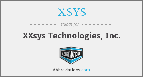 What does XSYS stand for?
