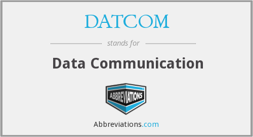 What does DATCOM stand for?