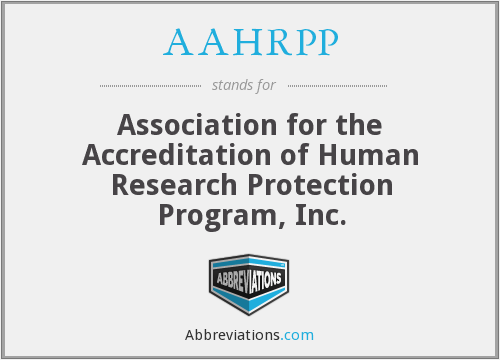 What does AAHRPP stand for?