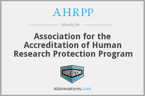 What does AHRPP stand for?