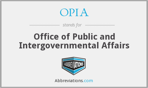 What does OPIA stand for?