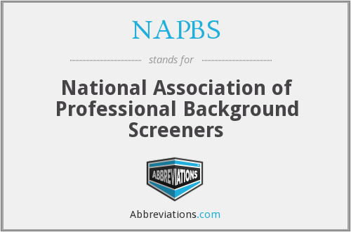 What does NAPBS stand for?