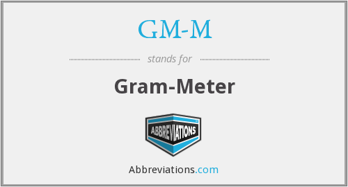 What does GM-M stand for?