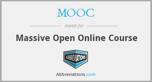 What does MOOC stand for?