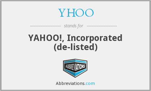 What does YHOO stand for?