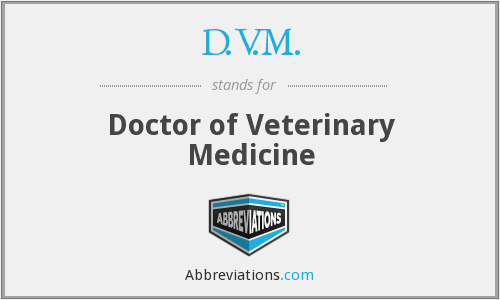 What does D.V.M. stand for?