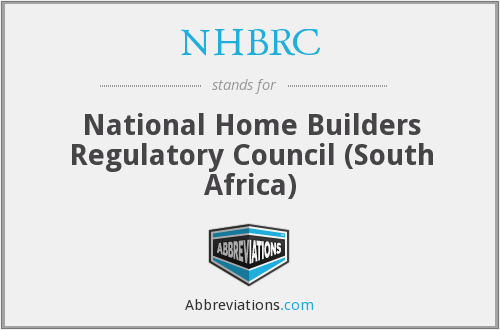 What does NHBRC stand for?